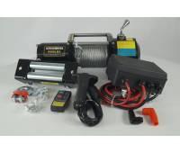 Лебедка электрическая 12V Electric Winch 6500lbs Съемный блок управления, стальной трос.