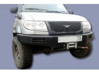 Бампер передний Швеллерный на УАЗ Патриот