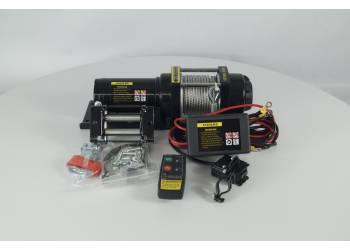 Лебедка электрическая 12V Electric Winch 4500lbs Съемный блок управления, стальной трос.