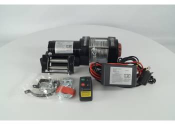 Лебедка электрическая 12V Electric Winch 3500lbs Съемный блок управления, стальной трос.